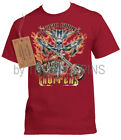 1-PACIFIC COUNTY CHOPPERS MOTORCYCLE FLAME PCC WEAR MENS GRAPHIC PRINTED T-SHIRT