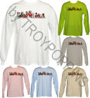 1-GRAPHIC PRINTED LONG SLEEVE T-SHIRT OF-DOGGIE SANTA PAWS-CHRISTMAS WINTER DOGS