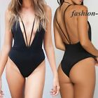 Women Sexy Strappy Swimsuit Swimwear Bathing Monokini Push Up Padded Bikini FO