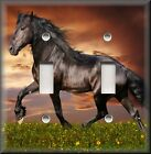 Light Switch Plate Cover - Black Friesian Horse - Horses - Western Home Decor