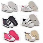 Ralph Lauren polo Newborn Crib shoes Canvas Leather White Pink Navy