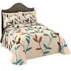 Collections Etc Wandering Vines Chenille Bedspread