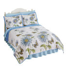 Collections Etc Country-Style Gerber Daisies Butterfly Quilt