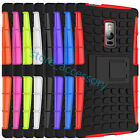 For iPhone 4 5 6S Plus SE Kickstand Heavy Duty 2 in1 Rubber+PC Hybrid Case Cover