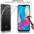 For Huawei P20/P Smart/Honor -TPU Gel Case Cover+Tempered Glass Screen Protector