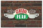 Friends Central Perk Sign On Brick Wall Poster New - Maxi Size 36 x 24 Inch