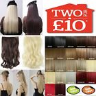 Hair Extensions Real Thick Half Full Clip in Hair long straight curly synthetic