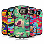 HEAD CASE DESIGNS COLOURFUL CAMOUFLAGE HYBRID CASE FOR SAMSUNG GALAXY S6