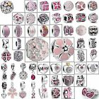 925 Silver Charms Bead Cute Pink Fashion Jewelry Fit Sterling European Bracelets