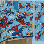"Spiderman Thwip Single Duvet and Matching Curtains Set 54"" or 72"" Drop Bed Set"