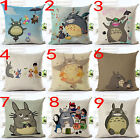 New Totoro Cotton linen Throw Pillow Cases Home Decorative Cushion Cover Square