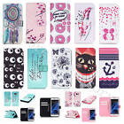 For Samsung iPhone LG Synthetic Leather Case Stand Flip Wallet Card Slots Cover
