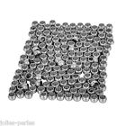 100PCs Stainless Steel Smooth Spacer Beads Silver Tone