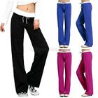 Womens Soft Comfort Cotton Yoga Sweat Lounge Gym Sports Athletic Long Pants