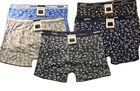 6 Mens Boxer Briefs Underwear Stretch Fashion Trunk Short Bulge Lot S M L XL 2X