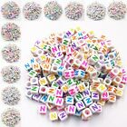 100 Pcs 6mm Wholesale New Hot Mixed Acrylic 26 Letters/Alphabet Beads Colorful