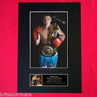 RICKY HATTON Mounted Signed Photo Reproduction Autograph Print A4 52