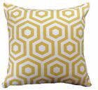 "1 CUSHION COVER-HEX SAFFRON yellow geometric 12"",14""16,18"",20"" 22"" 24 with zip"