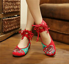 Women Embroidered Slipper Shoes Chinese Floral Flower Canvas Sandal Rubber