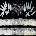 Hot Long Sharp Acrylic False Nail Art Tips -  500Pcs Natural White Clear Choose