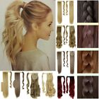 Clearance Sale Clip in Hair Extensions Jaw Claw Ponytail Brown Long Black P7M