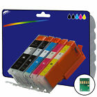 Any 5 non-OEM C570/1 Ink for Canon Pixma MG6850 MG6851 MG6852 MG6853