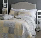 Contemporary Pastel Patchwork Bedspread Quilt Comforter Throw + Pillow Shams NEW