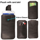 Soft Leather Pull Tab Pouch Sleeve Slide In Phone Case Cover For Various Mobiles