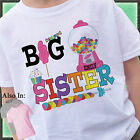 CANDYLAND CANDY BIG SISTER SHIRT PERSONALIZED WITH NAME GUMBALL BIG SIS