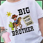 COWBOY BIG BROTHER SHIRT PERSONALIZED WITH NAME HORSE SHERIFF OUTLAW