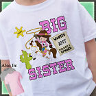 COWBOY BIG SISTER SHIRT PERSONALIZED WITH NAME HORSE SHERIFF OUTLAW