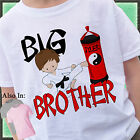 KARATE BIG BROTHER SHIRT PERSONALIZED WITH NAME TAEKWONDO MARTIAL ARTS