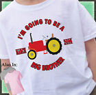 RED TRACTOR BIG BROTHER SHIRT PERSONALIZED WITH MONTH YEAR