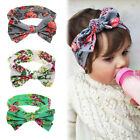 Baby Kids Girl Print Floral Butterfly Bow Hair Band Turban Knot Headband