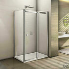 1200mm Sliding Shower Door Enclosure Walk In 8mm Screen Side Panel Stone Tray