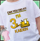 CAN YOU DIG IT BULLDOZER BIRTHDAY SHIRT PERSONALIZED NAME AND AGE CONSTRUCTION