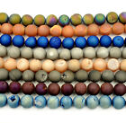 Wholesale Titanium Coated Natural Druzy Agate Gemstone Round loose Beads 7.5""