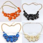1pc Acrylic Statement Gemstone Jelly Freeform Bead Necklace Collar Jewelry