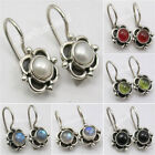 925 Sterling Silver Real Gemstones Earrings ! Affordable Wedding Jewelry NEW