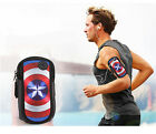 America Captain Multi-Pocket Adjustable Sports Running Jogging Gym Armband