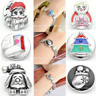 Click Snap On Santa Claus Christmas Tree Charms Metal Button Fit Style Bracelet