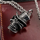 AgentX Fashion Stainless Skull Pendant Rock & Roll Punk Mens Necklace Chain +Bag