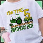 I'M THE BIRTHDAY BOY NUMBER GREEN TRACTOR BIRTHDAY SHIRT PERSONALIZED NAME AGE