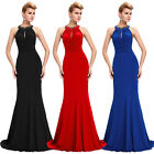 Soft Cotton Women Summer Long Formal Evening Gown Ball Party Cocktail Prom Dress