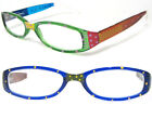 Spot-On Hand-Painted Reading Glasses +2.00-Spring hinge & quality frames