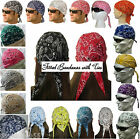 PAISLEY DOO RAG FITTED COTTON BANDANA TIES Do Du Hav A Danna Tie Skull Cap Back