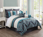 13 Piece JUSTINE 100% Cotton Bed in a Bag Set