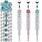 Flower Chain Multi Gem Crystal Belly Navel Ring Body Jewelry Wholesale