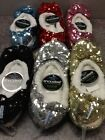 Snoozies Women's Slippers Ballerina Bling 6 Asst Colors