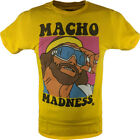Macho Man Randy Savage Madness Yellow Mens T-shirt